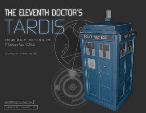 Tardis Papercraft - the eleventh doctor s tardis papercraft paperkraft net