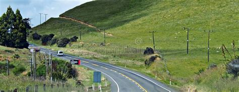 earthquake hill earthquake new zealand hill editorial photo image