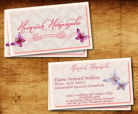 Handmade Cards Business From Home - upmarket conservative business card design for elaine