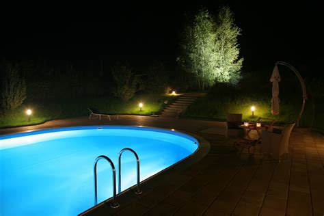 pool at night home swimming pool lighting tips pool quest