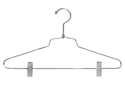 Hanger Setelan 16 Inchi suit hanger 16 inch w retail clothes display fixture chrome lot of 100 new