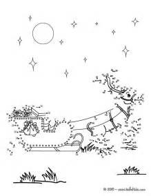 Christmas dot to dot reindeer amp sleigh