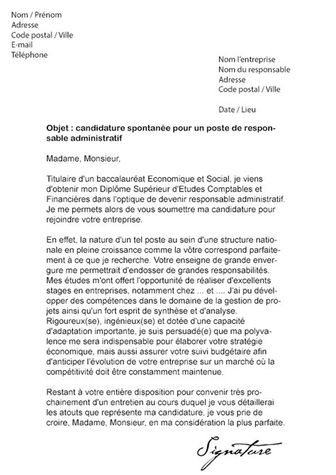 Lettre De Motivation De Responsable Modele Lettre De Motivation Responsable Document