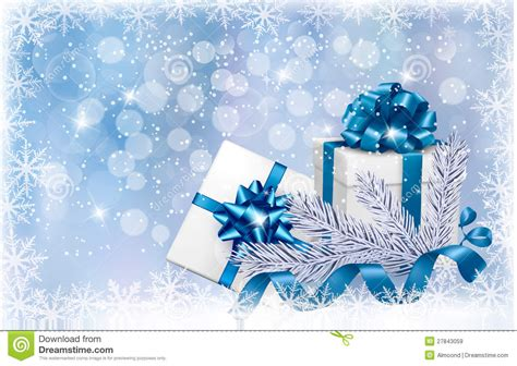 christmas blue background with gift boxes royalty free