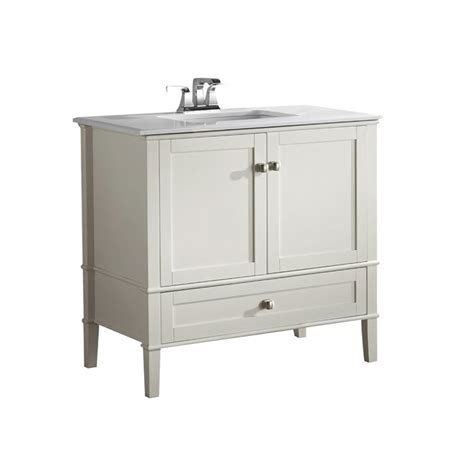 chelsea bathroom vanity simpli home chelsea 37 quot bath vanity w quartz marble top white bathroom vanitie ebay