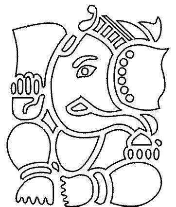 cute ganesha coloring pages ganesha outline images www pixshark com images