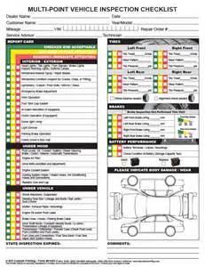 new car inspection checklist multi point inspection checklist bpi custom printing