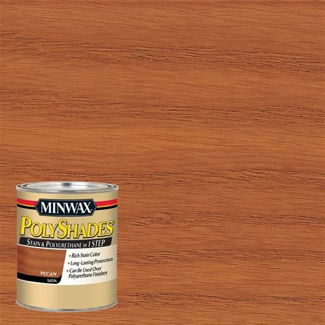 minwax 1 qt polyshades pecan satin 1 step stain and