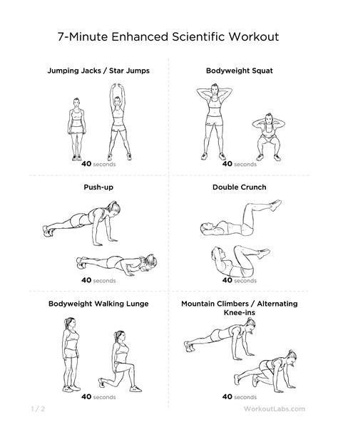 home workout plan for men 7 minute enhanced scientific at home workout for men women
