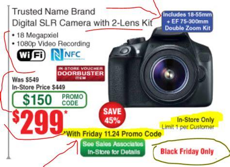 frys black friday ads reveal bm doorbuster canon dslr
