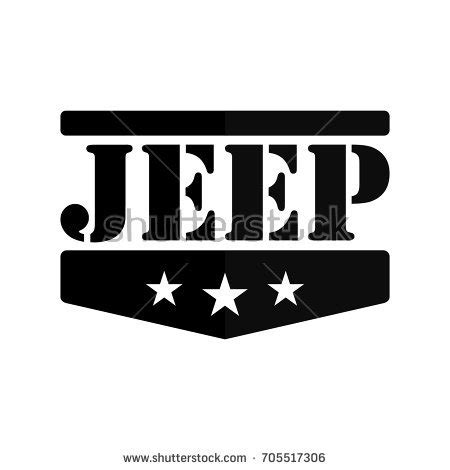 jeep grill logo vector jeep logotype vector logo vector stock vector 705517306