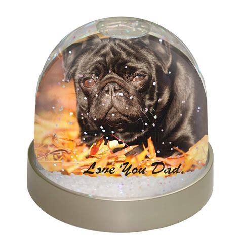 pug snow globe black pug you snow dome globe waterball animal gift 163 9 98
