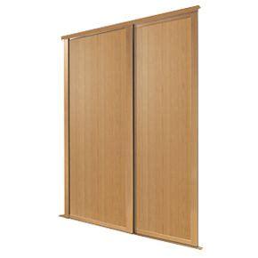Screwfix Wardrobe Doors by Spacepro 2 Door Panel Sliding Wardrobe Doors Oak 1803 X