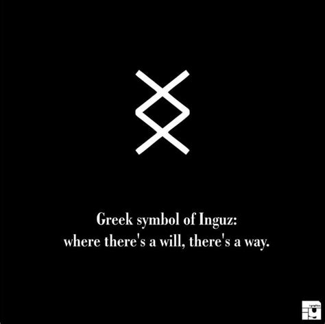 Where There S A Will symbol of inguz where there s a will there s a way