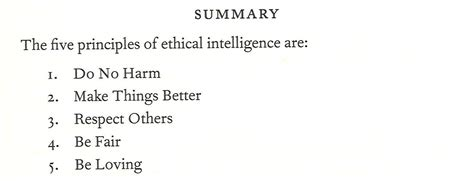 intelligence list ethical intelligence list of the five principles 171 clark d haptonstall ph d
