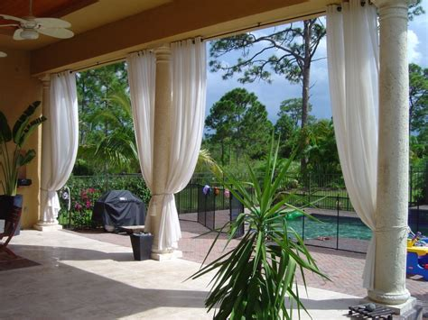 Curtains On Patio Outdoor Curtains Project Miami Fl