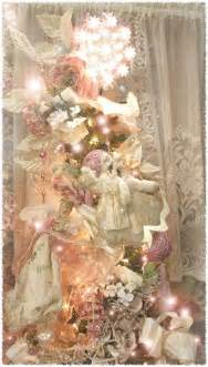 pink christmas tree decorations shabby chic ideas