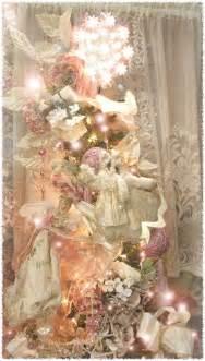pink christmas tree decorations shabby chic ideas pinterest