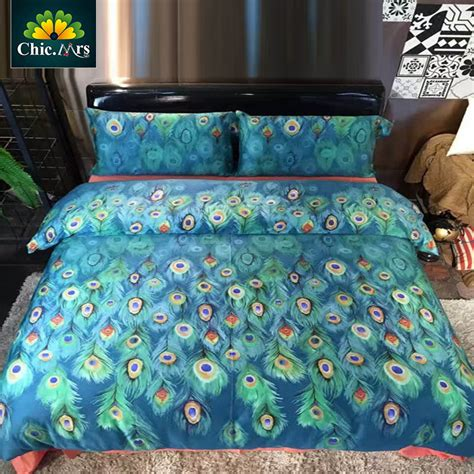 peacock feather duvet promotion shop for promotional