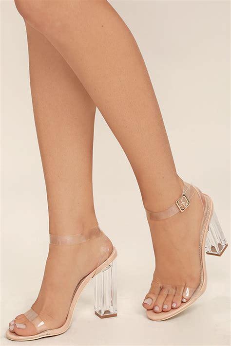 high heels clear clear heels lucite heels block heels 45 00