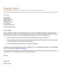 office manager cover letter exle cover letter exle