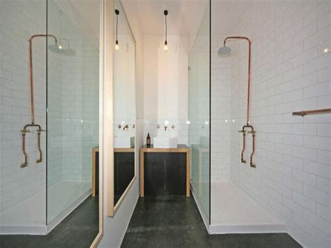exposed bathroom plumbing exposed copper pipe plumbing b a t h r o o m pinterest