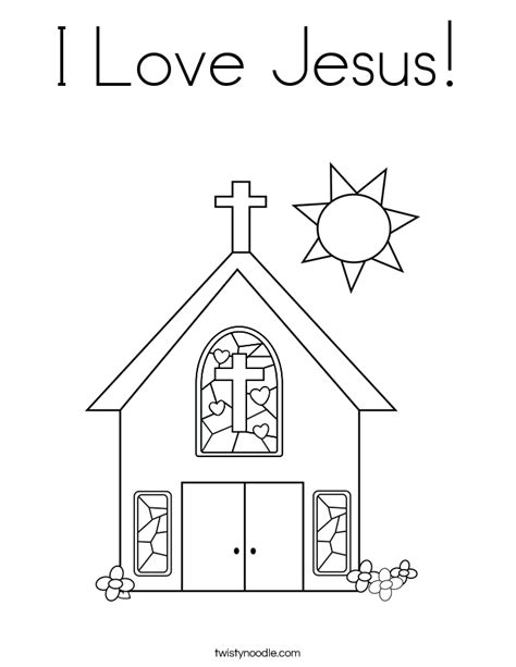 coloring pages i love god i love jesus coloring page twisty noodle