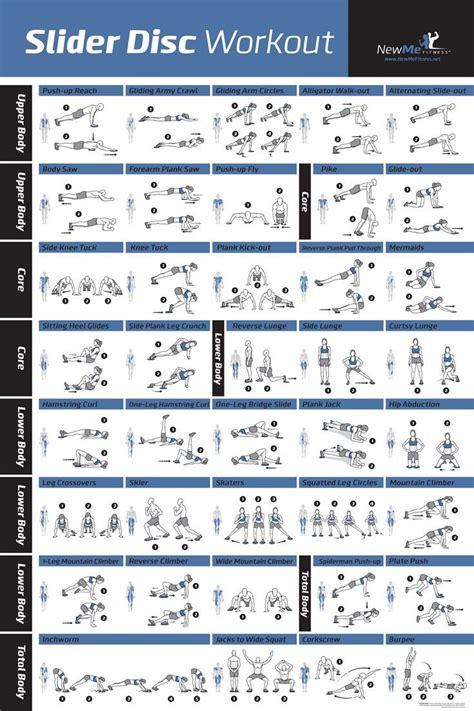 checkout  latest core sliderglider disc workout poster workouts entrenamientos de