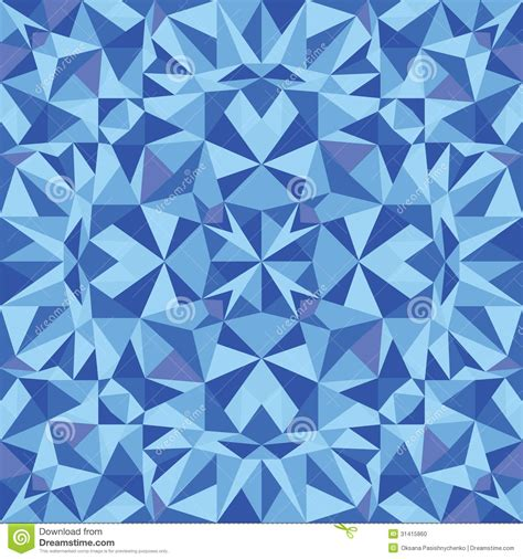 blue triangle pattern vector background blue triangle texture seamless pattern background stock