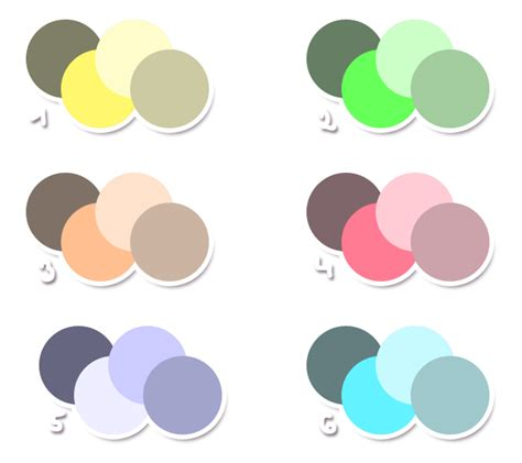 free color schemes by metterschlingel on deviantart