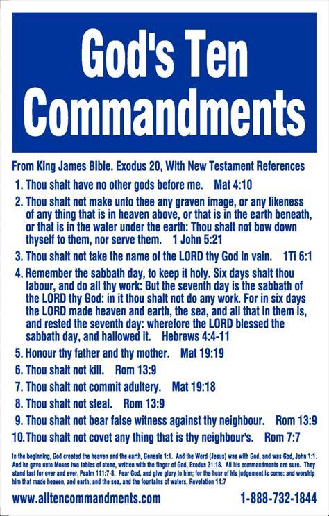 The Ten Commandments 10 commandments