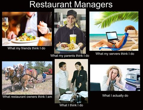 Restaurant Memes - my manager is legitimately always on facebook work