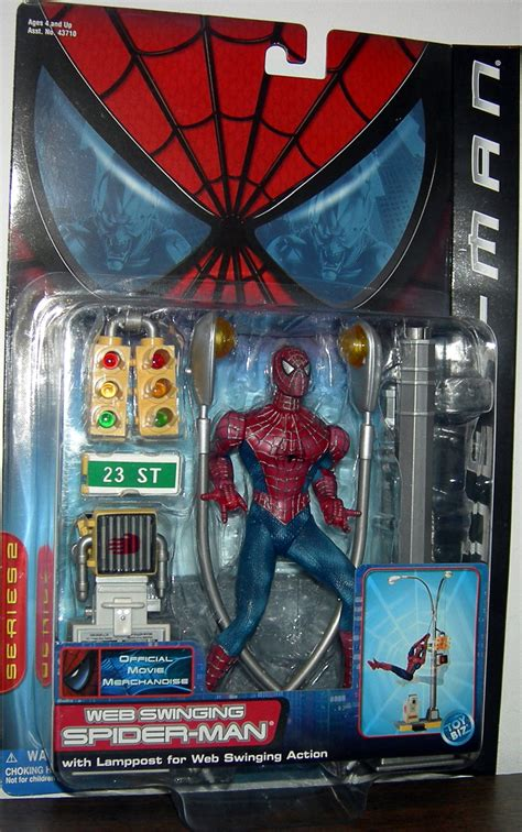 swinging toys web swinging spider man movie action figure toy biz