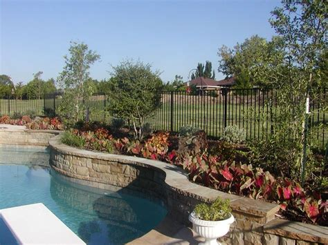 landscape around pool pool landscaping ideas ag105 2 outdoor swimming pool