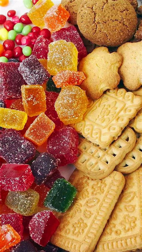 Colorful Jello Candy Baked Cookies Android Wallpaper free