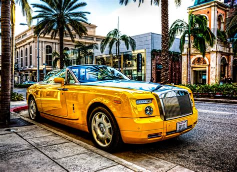 roll royce yellow yellow rolls royce 3 free hd car wallpaper