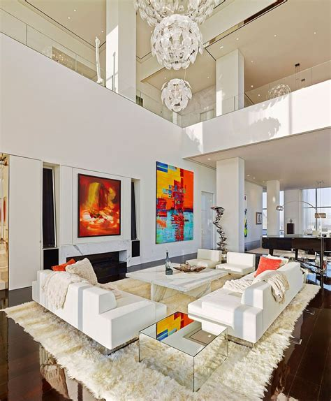 modern apartment living room breathtaking new york city penthouse leaves you awestruck