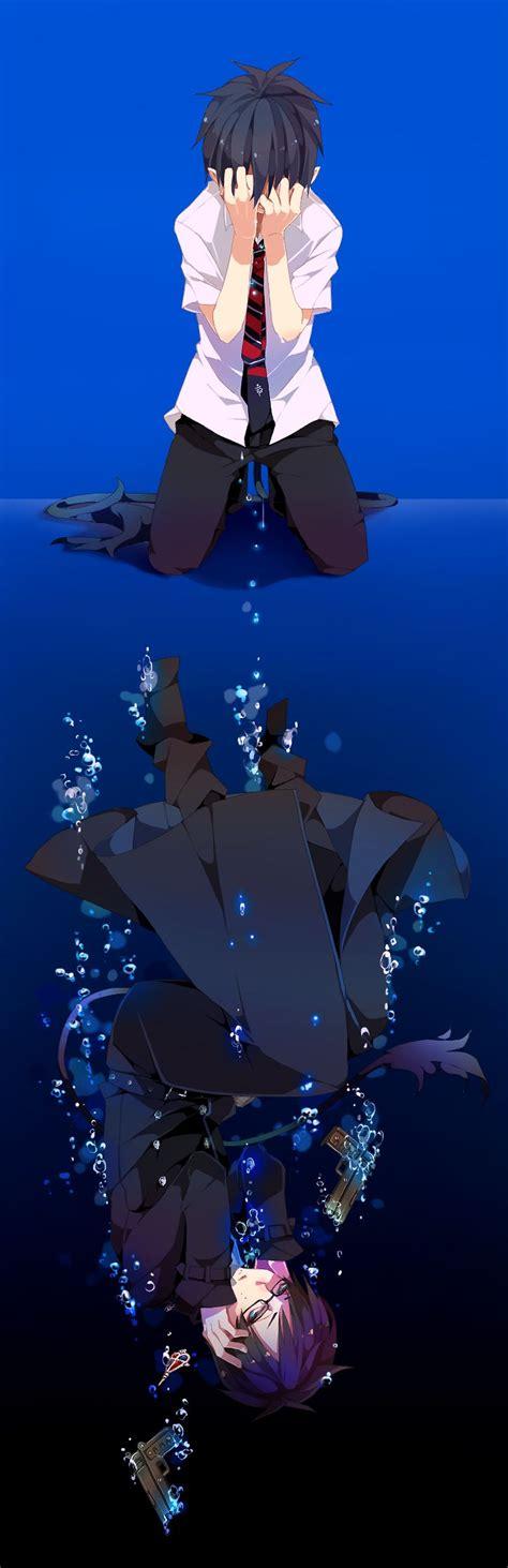 anoboy ao no exorcist blue exorcist sorrowful reflection anime pinterest