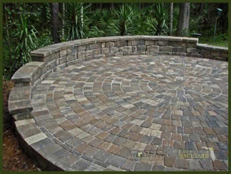 Circular Paver Patio Jacksonville Backyard Hardscapes Landscapes Ecoscapes Jacksonville Project Photos Click To