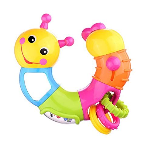 Kidsme Rattle Baby Worm T2909 2 coolecool lovely worm rattle toys baby toys 6 to 12 months with rotary holding rings