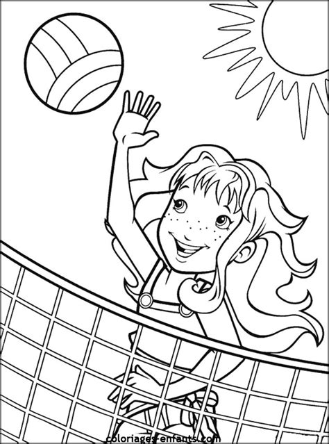 coloring pages volleyball girl coloring activity pages girl playing beach volleyball