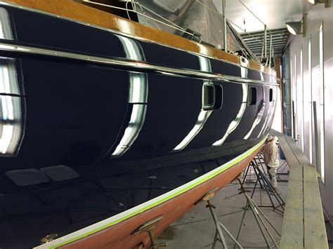 boat paint application awlgrip burr brothers boats inc