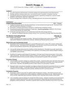 Strategy Consultant Cover Letter by David Houggy Resume Nov 2008 V5
