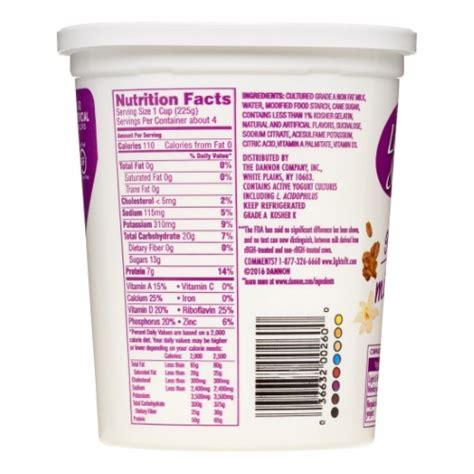 Light And Fit Yogurt Nutrition by Dannon Light Fit Nonfat Yogurt Vanilla 32 Oz Jet