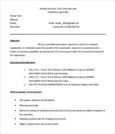 Resume Sample Bpo bpo resume template 22 free samples examples format