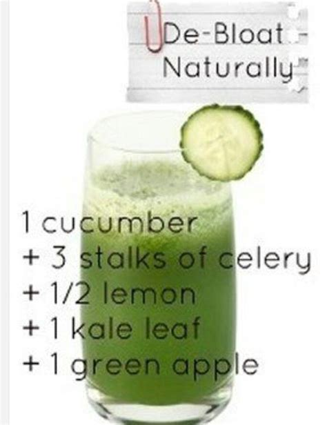 Lemon Celery Detox by De Bloat Naturally Juice Recipe 1 Cucumber 3 Stalks Of