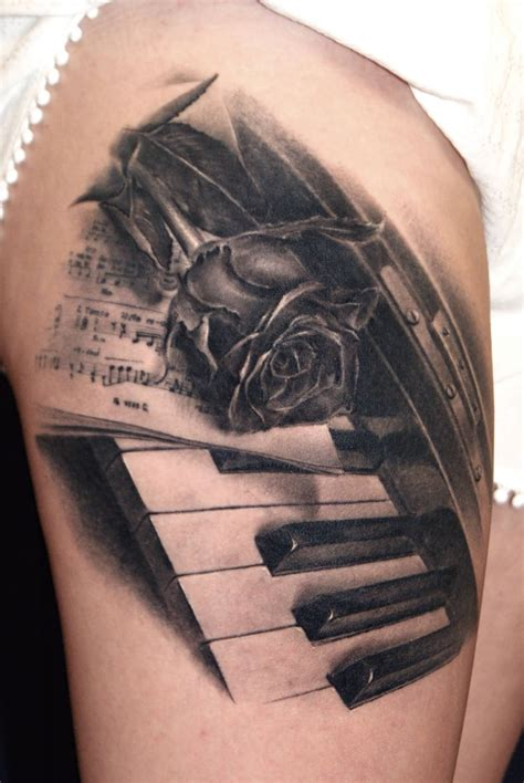 piano keys tattoo 60 amazing piano tattoos