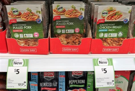 Shelf Of Cooked Chicken Breast by New On The Shelf At Coles 21st December 2017 New