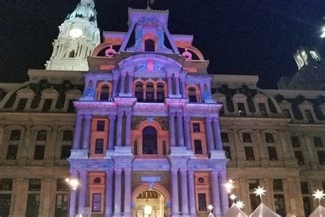light show in philadelphia 2017 holiday light show at city hall