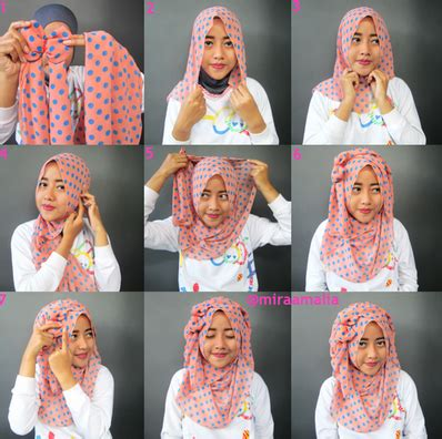 Aneka Jilbab Segi Empat aneka cara memakai segi empat variasi terbaru yang
